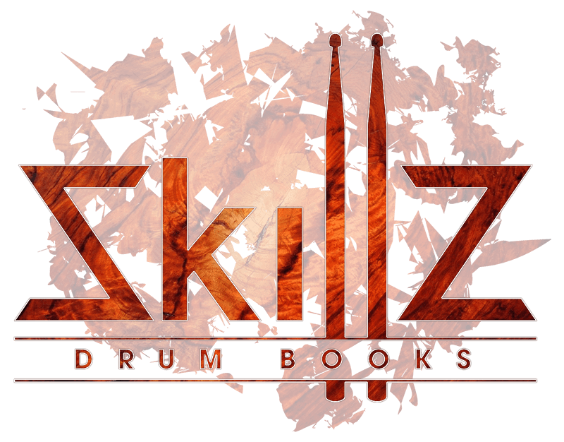 Skillz Drum Books Logo in Bubinga on a transparant background