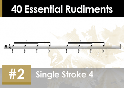 Rudiment Section 2 – Additions and Variations #2 Single Stroke 4