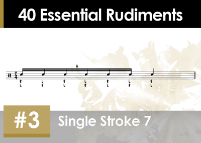 Rudiment Section 2 – Additions and Variations #3 Single Stroke 7