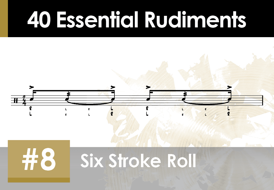 Skillz Drum Lessons Rudiments 08 Six Stroke Roll