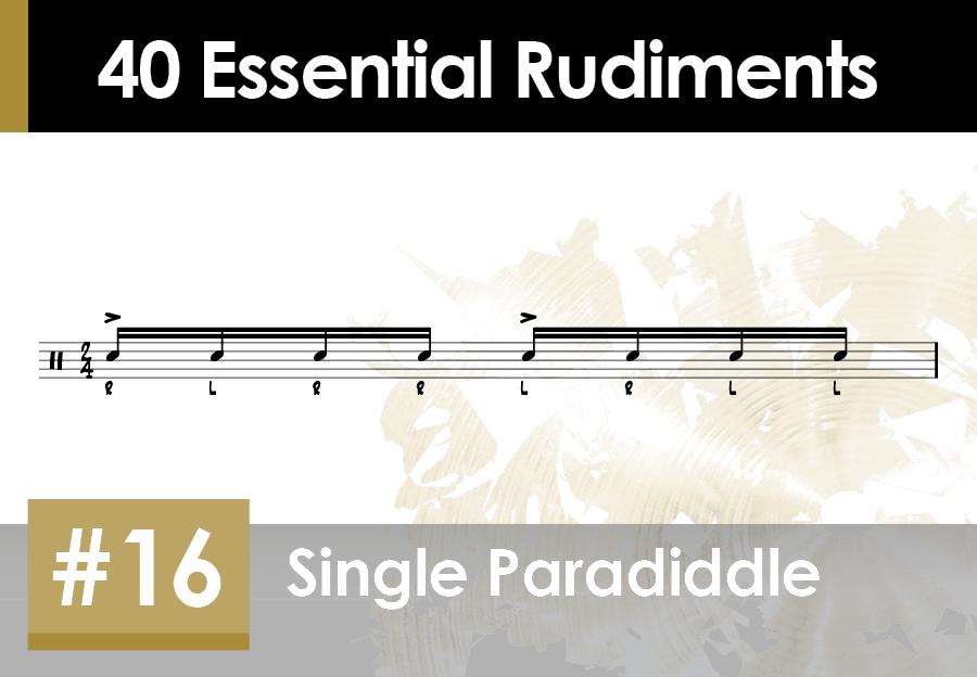 Skillz Drum Lessons 40 Essential Rudiments number 16 Single Paradiddle