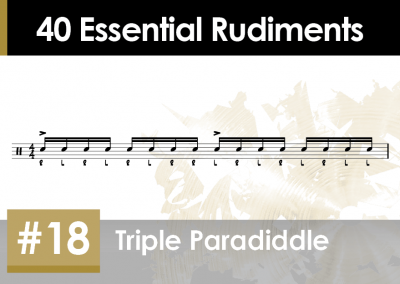 Rudiment Section 2 – Additions and Variations #18 Triple Paradiddle