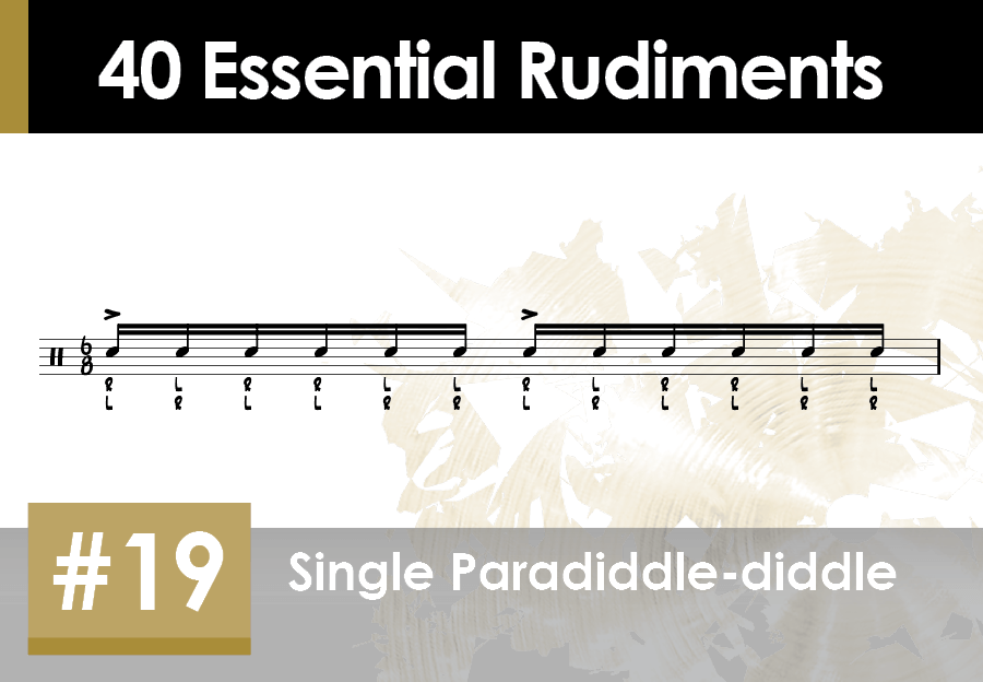 Skillz Drum Lessons 40 Essential Rudiments number 19 Single Paradiddle-diddle