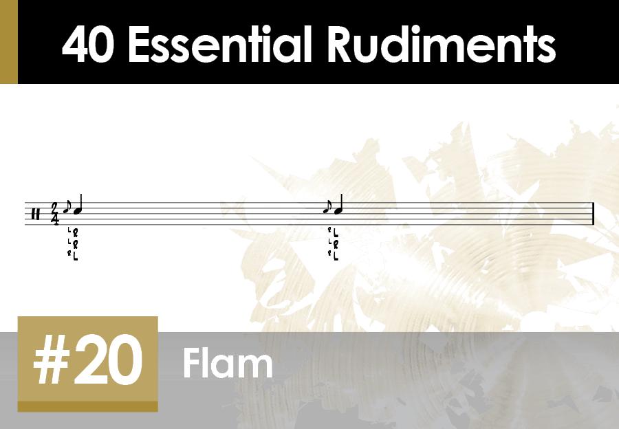 Skillz Drum Lessons 40 Essential Rudiments number 20 Flam
