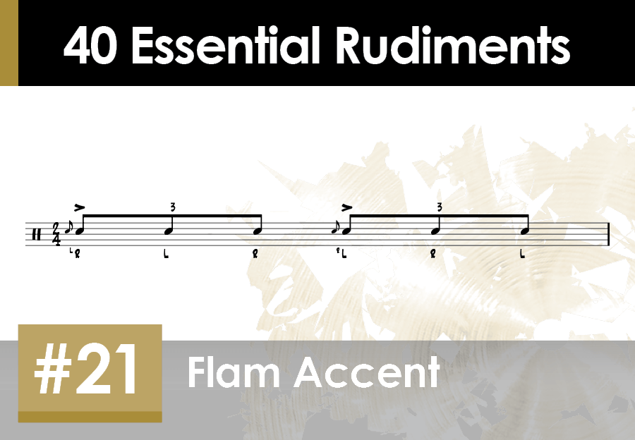 Skillz Drum Lessons 40 Essential Rudiments number 21 Flam Accent