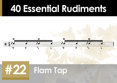 Rudiment Section 2 – Additions and Variations #22 Flam Tap