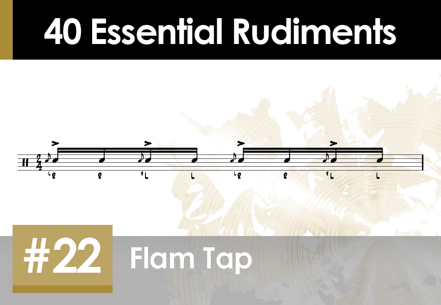 Skillz Drum Lessons 40 Essential Rudiments number 22 Flam Tap