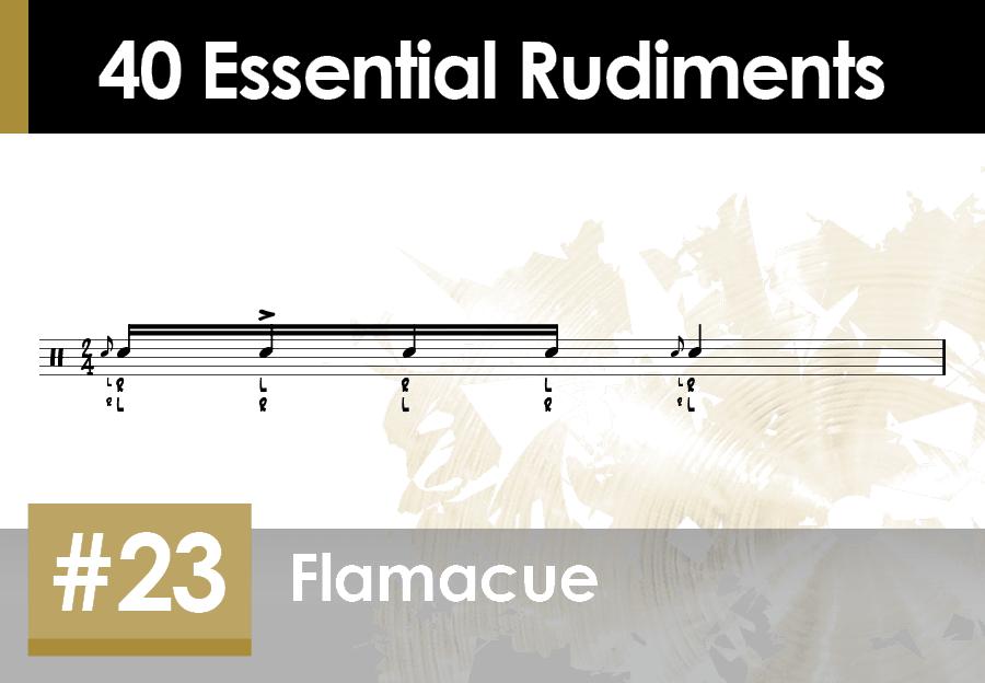 Skillz Drum Lessons 40 Essential Rudiments number 23 Flamacue