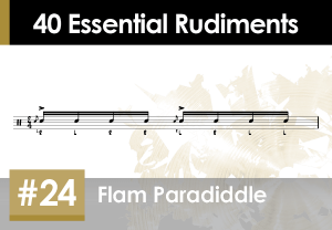 Skillz Drum Lessons 40 Essential Rudiments number 24 Flam Paradiddle