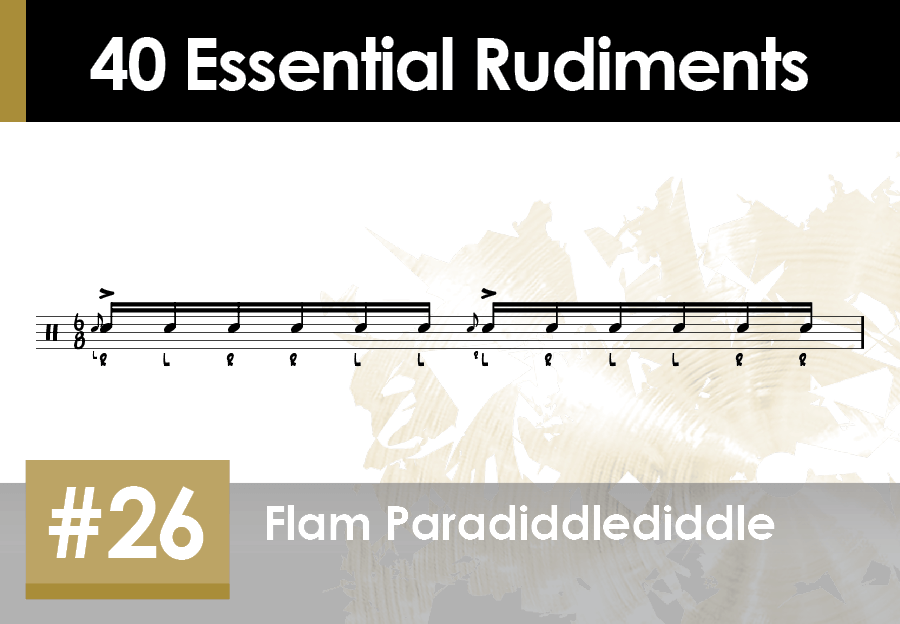 Skillz Drum Lessons 40 Essential Rudiments number 26 Flam Paradiddlediddle