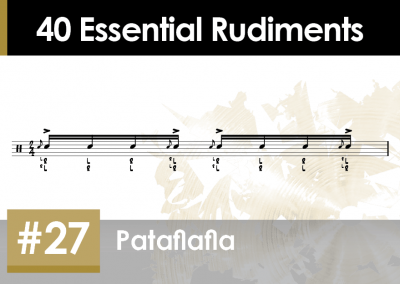 Rudiment Section 2 – Additions and Variations #27 Pataflafla