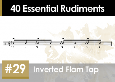 Rudiment Section 2 – Additions and Variations #29 Inverted Flam Tap