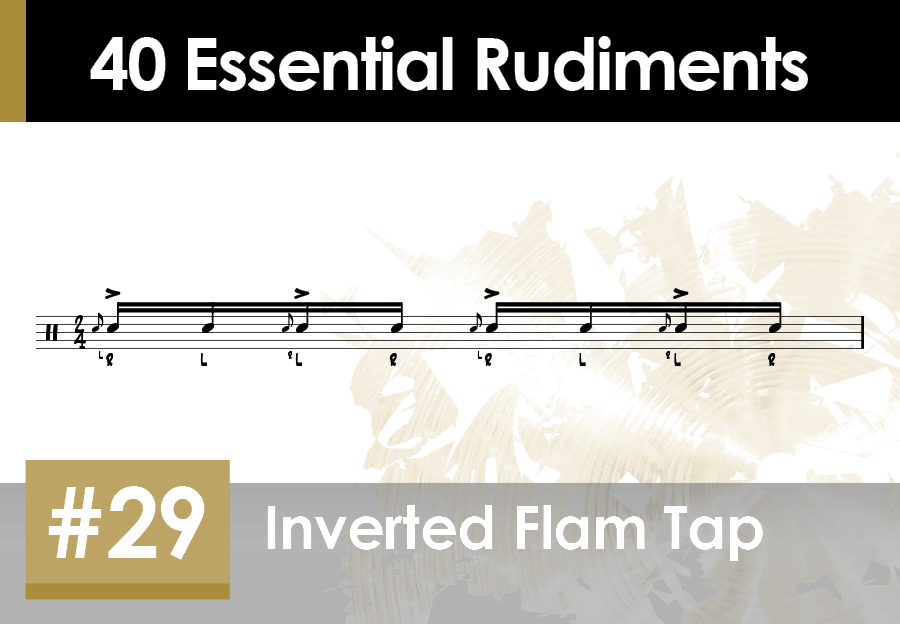 Skillz Drum Lessons 40 Essential Rudiments number 29 Inverted Flam Tap