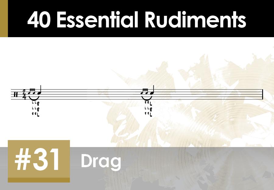 Skillz Drum Lessons 40 Essential Rudiments number 31 Drag