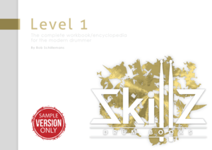 Image FREE drum book Skillz Drum Lessons called Level 1 Trial Version made smaller for email optin