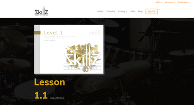 Picture of what a Level 1 Membership Online Drum Lesson at Skillz Drum Lessons will look like