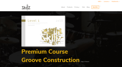 Picture of what a Premium Membership Online Drum Lesson at Skillz Drum Lessons will look like