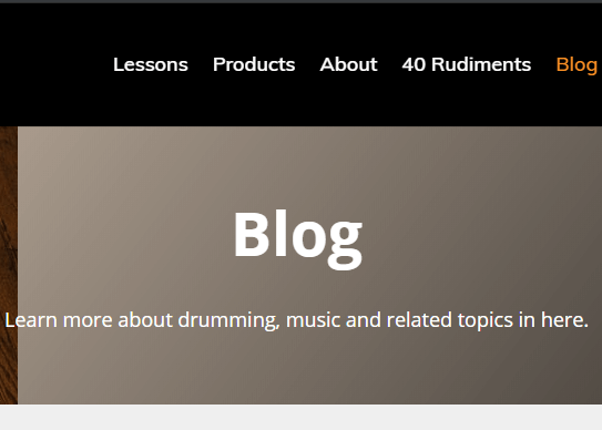 Screenshot Blog Page Skillz Drum Lessons