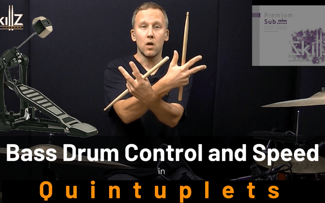 Quintuplet Drum Lessons Free 01 – Bass Drum Control Part 1 – Singles and Doubles