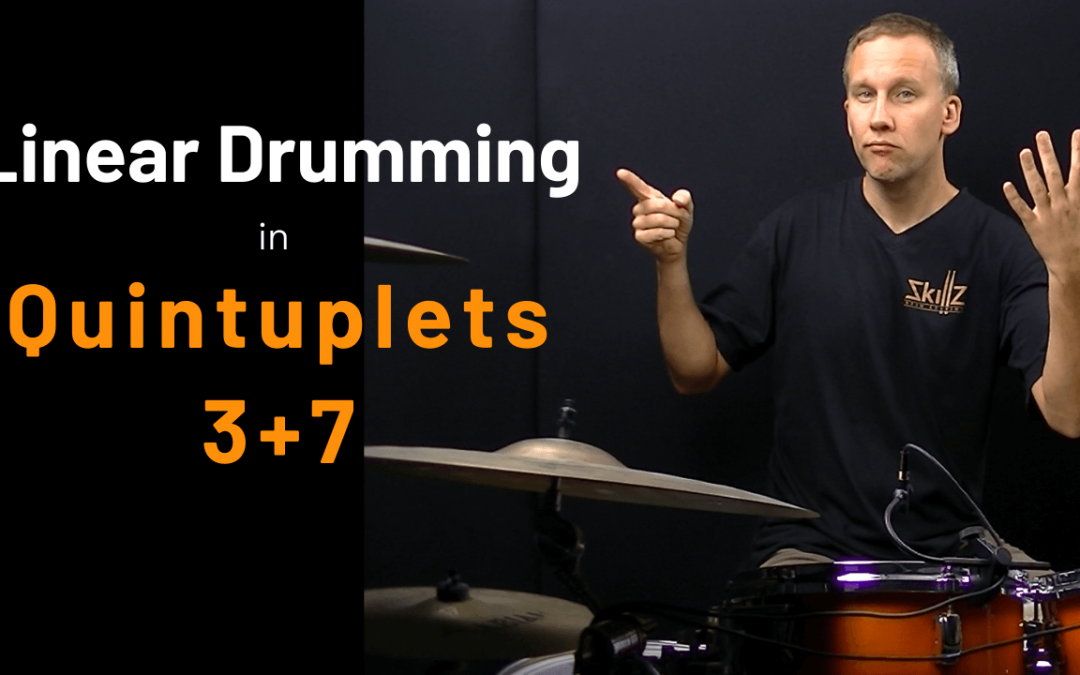 Quintuplet Lessons Free 02 – Quintuplets Linear Drumming Patterns – 3+7