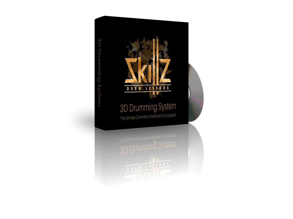3D Image of the 3D Drumming System by Skillz Drum Lessons