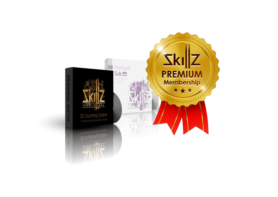 3D Image of the Premium Membership by Skillz Drum Lessons