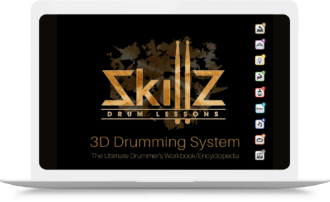 3D Drumming System Cover on MacBook